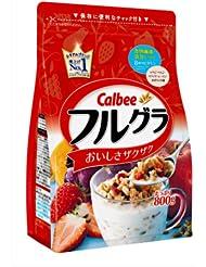 日亚:Calbee卡乐比水果颗粒果仁谷物营养麦片 800g 742日元(约41元)