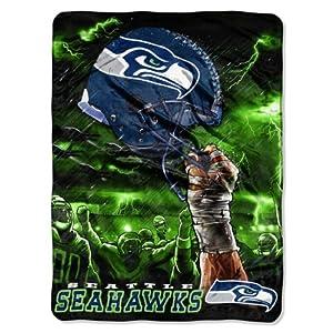 NFL Seattle Seahawks 60-Inch-by-80-Inch Plush Rachel Blanket, Sky Helmet Design by Northwest