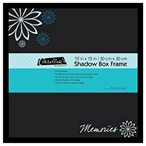 Mcs Industries 12 by 12-Inch Black Shadow Box Frame with Silkscreen Memories Sentiment
