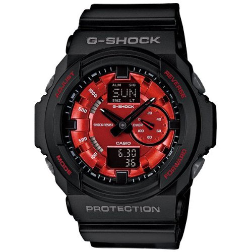 G-Shock GA-150 Watch - Black / Red Casio