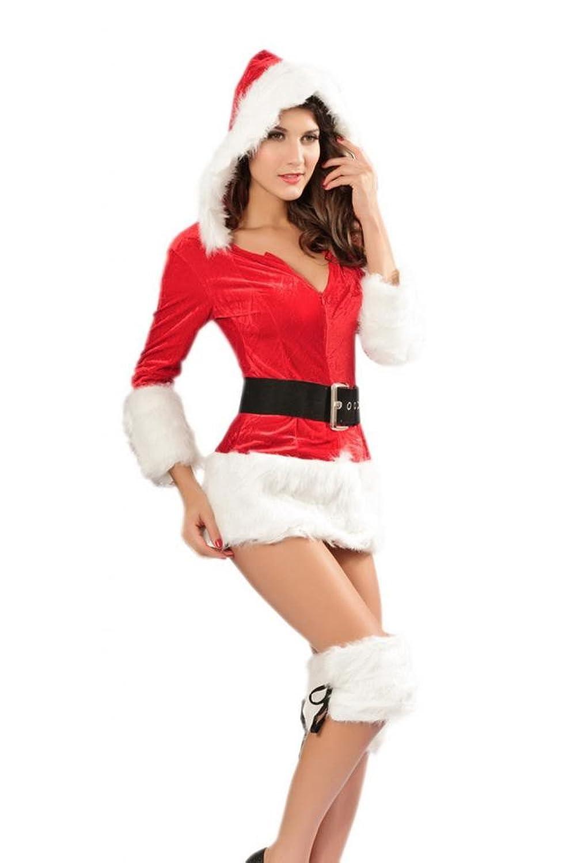 Lukis Weihnachten Damen V Ausschnitt Kostüm Abendkleid Minikleid bestellen