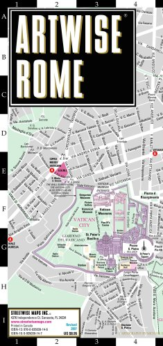 Artwise Rome Museum Map - Laminated Museum Map of Rome, Italy: Folding Pocket Size Travel Map