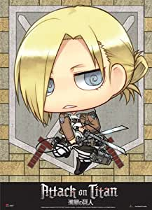 Amazon.com: Attack On Titan SD Annie Wall Scroll: Toys & Games