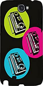 Snoogg Boombox Colourful Case Cover For Samsung Galaxy Note Ii