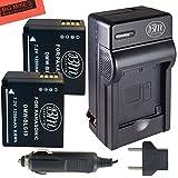 BM Premium 2-Pack of DMW-BLG10 Batteries and Battery Charger for Panasonic Lumix DMC-GX80, DMC-GX85, DMC-ZS60, DMC-ZS100, DMC-GF6, DMC-GX7K, DMC-LX100K Digital Camera