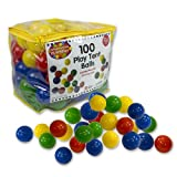 100 Play Balls- 7cm Phthalate and BPA Free Pit Balls with Reusable Carrying Case