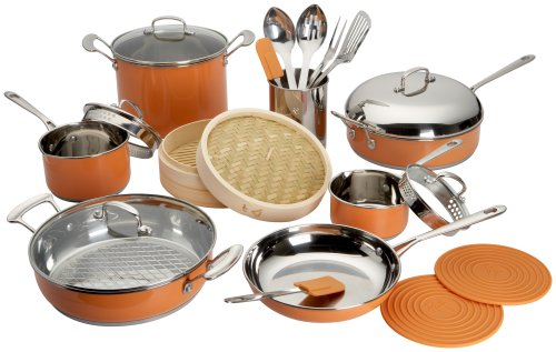 Buy Roy Yamaguchi 22 Piece Cookware Set, Orange