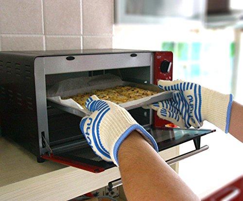 Ohuhu guanti da forno qualit superiore resistente caldo gestore superficie calda guanti da - Guanti da cucina ...