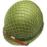 軍用 M-1 スティール ヘルメット 米軍 WWII 初期型 鉄兜  サバイバル サバゲー に  (ネットあり)