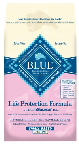 Blue Buffalo Dry Dog Food for Small Breed Puppies, Chicken and Oatmeal Recipe, 15-Pound Bag