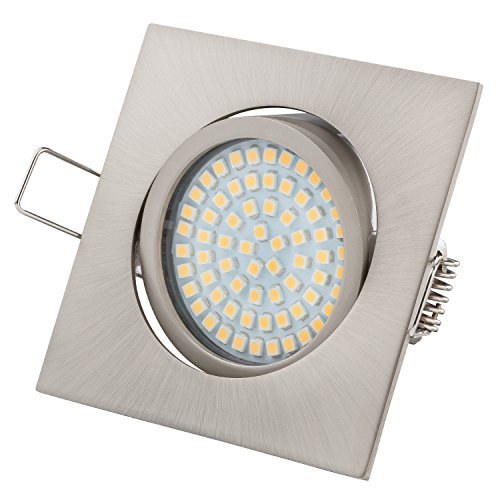 10 X FIRE RATED LED DOWNLIGHTS 240V MAINS GU10 FIXED 4W 7W DIMMABLE