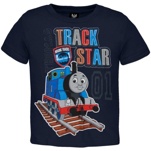 Thomas & Friends - Boys Track Star 01 Toddler T-Shirt 3T Dark Blue front-980635