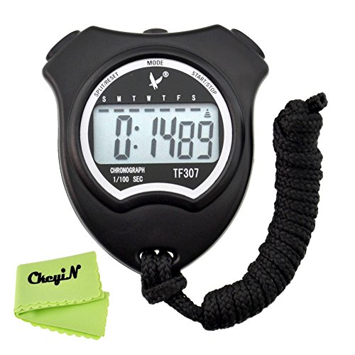 Ckeyin ®Digital Stopwatch Single-Row Memory Electronic Sports Stopwatch Chronograph Timer