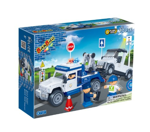BanBao Police Car Toy Building Set, 245-Piece