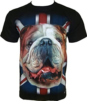 ROCK CHANG T-SHIRT Bulldog Noir Black R 683 (s m l xl xxl) (S)