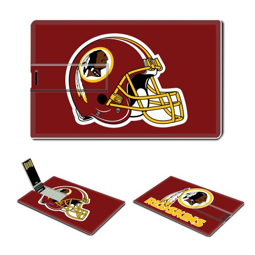 4gb Usb Flash Drive Usb 2.0 Memory Stick Sports Nfl Washington Redskins Logo Credit Card Size Customized Support Services Ready National Football League Super Bowl Team Playoffs Mvp Champion Player Peyton Manning Brett Favre (red) Picture