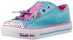 Skechers Girls Shuffles Turquoise and Multi Sneakers - 12 kids UK/India(30 EU)(13 US)