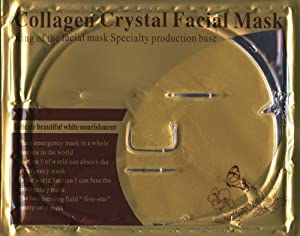 Luxurious 24k Nano Gold Collagen Crystal Facial Mask 5 Packs