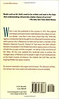 The Question of Palestine: Edward W. Said: 9780679739883: Amazon.com: Books