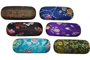 Oriental Print Hard Glasses Case