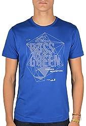 Hugo Boss Mens Printed T-Shirt - Blue