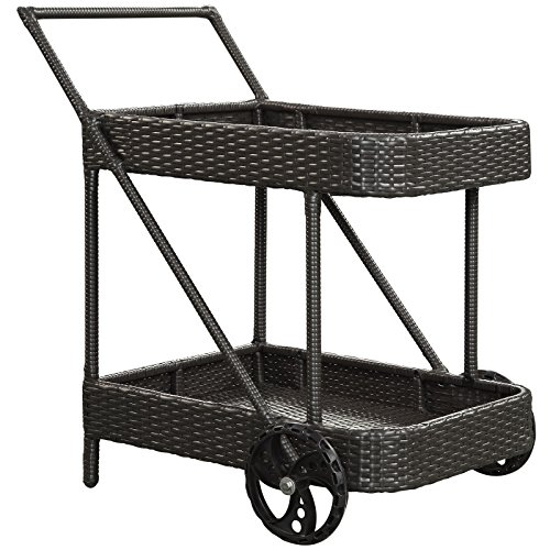 LexMod Replenish Outdoor Rattan Beverage Cart (Outdoor Patio Beverage Cart compare prices)