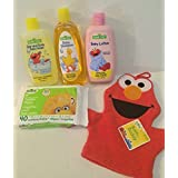 Sesame Street 5 Piece Baby Bathtime Bundle: Baby Shampoo, Baby Lotion, Hair And Body Baby Wash, Baby Wipes, And...