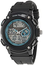 Sonata Ocean Series Analog-Digital Black Dial Mens Watch - NE7989PP01J