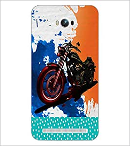 PrintDhaba Bike D-2823 Back Case Cover for ASUS ZENFONE MAX ZC550KL (Multi-Coloured)