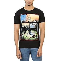 Levels Men's Cotton T-Shirt (YG-6845_Black_Large)