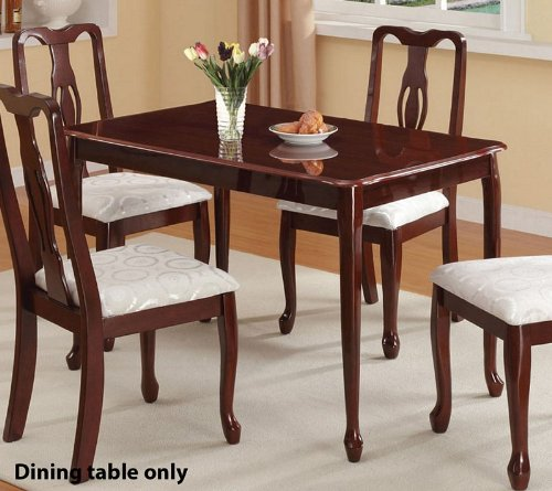 LeraGeYki: Best Buy Dining Table Queen Anne Style in Dark Oak Finish