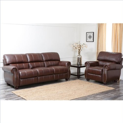 Fabulous Abbyson Living Lea Lee Italian Leather Sofa Sets In Two Tone Machost Co Dining Chair Design Ideas Machostcouk