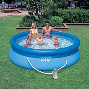 Intex easy set 10 39 x 30 swimming pool with for Quick up pool 120 hoch