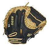 Wilson A500 Catcher's Mittens, Black/Blonde, 32