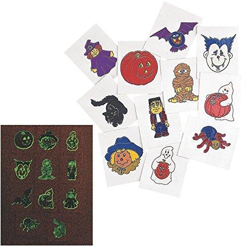 Glow-In-The-Dark Halloween Tattoos (6 Dozen) - Bulk