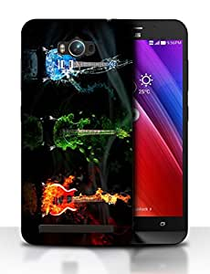 Snoogg Colorful Guitar Designer Protective Back Case Cover For ASUS ZENFONE MAX