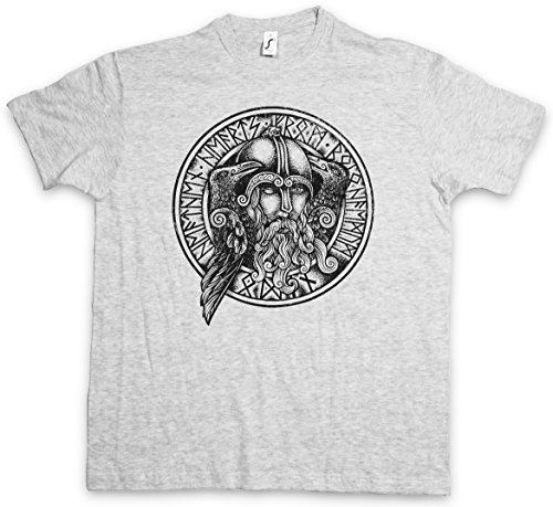 ODHIN II T-SHIRT - Odino Wotan Hugin und Munin Ravens Odin Thor Mjölnir Loki Midgard Wikinger Kelten Rune Walhalla Taglie S - 5XL