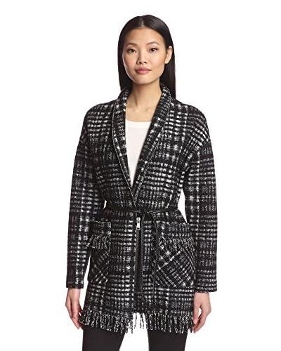 Sfizio Women's Plaid Fringe Coat