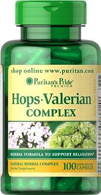 Puritan's Pride Hops Valerian Combo-100 Capsules