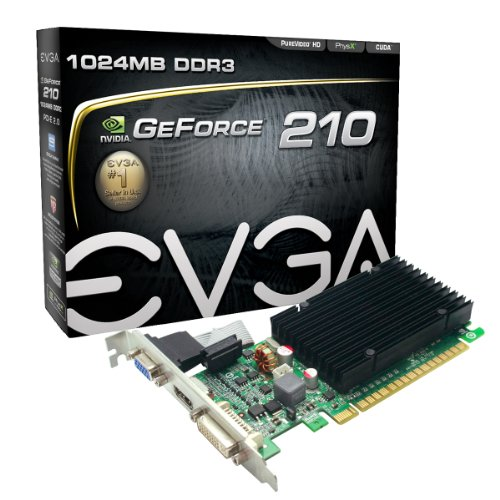 EVGA 01G-P3-1313-KR nVidia GeForce 210 1GB DDR3 VGA/DVI/HDMI PCI-Express Video Card