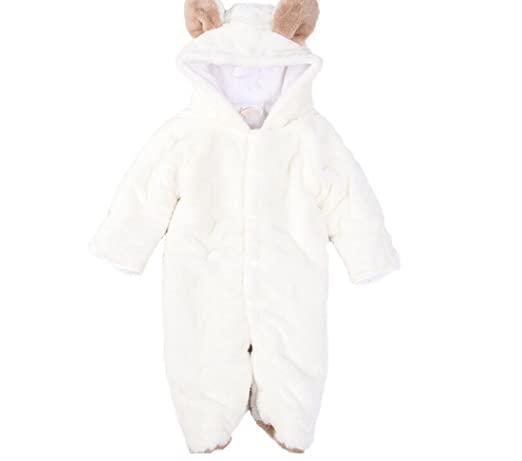 Amazon.com: ETSYG Warm Baby Infant Jumpsuit Body Suit(70 for 0-6 Months Baby, White Sheep): Baby