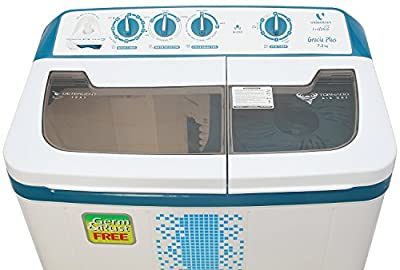Videocon VS72H12 Gracia Plus Semi-automatic Top-loading Washing Machine (7.2 Kg, Breeze Blue)