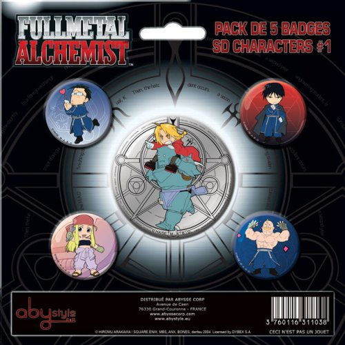 ABYstyle-ABYACC016-Figurine-Full-Metal-Alchemist-Pack-de-badges-SD-Characters-1-x5