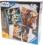 Ravensburger Star Wars Clone Wars 3 in a Box Jigsaw Puzzles