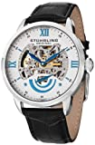 "Stuhrling Original Mens 574.01 ""Aristocrat Executive II"" Stainless Steel Automatic Watch with Leather Band"