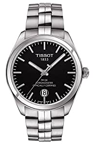 Tissot PR 100 COSC Black Dial Stainless