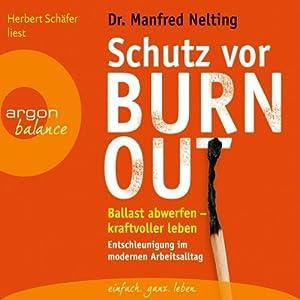 Schutz vor Burn-out Hörbuch