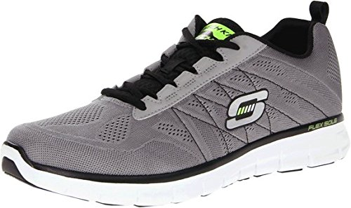 Skechers Men's Synergy Power Switch Memory Foam Athletic Training Sneaker Light Gray/Black-9 (Skechers Power Switch compare prices)