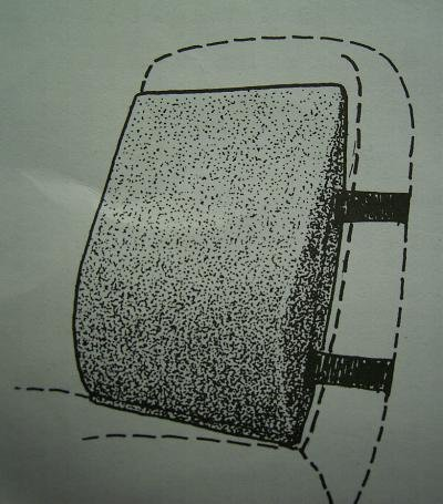 kissen r ckenkissen autokissen d blau h he 47 breite. Black Bedroom Furniture Sets. Home Design Ideas