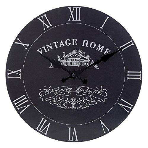 premier-housewares-reloj-de-pared-con-diseno-vintage-funciona-con-1-pila-aa-29-cm-color-negro
